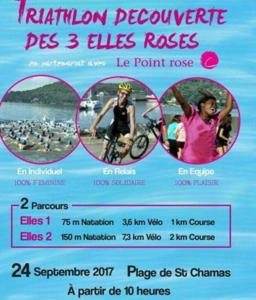 Triathlon 3 Elles Roses