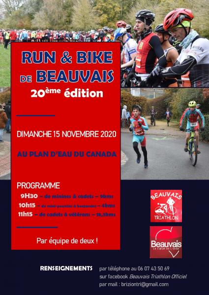 affiche run and bike 2020