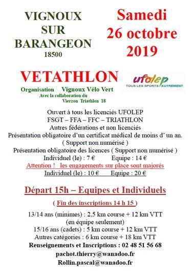 Vetathlon Vignoux 2019
