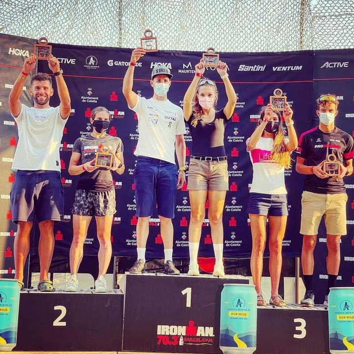 podium GA IM70.3 Barcelona