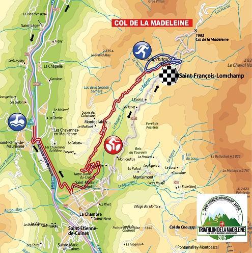 La Parcours du Triathlon de la Madeleine 2015